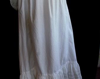 Victorian Petticoat w/Thread Work M