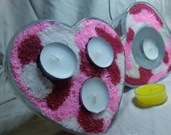 Heart candles holders