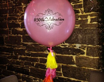 36 inches Balloons with your own text or image! Personalized printing. Logo printing. Customized balloons.