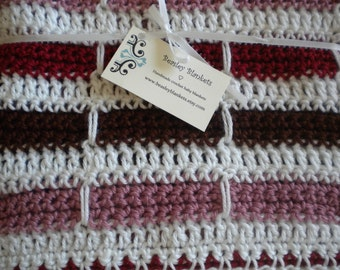 Sassy Pink and Brown Baby Blanket