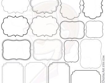 Digital Frames and Borders Clip Art great for Teachers