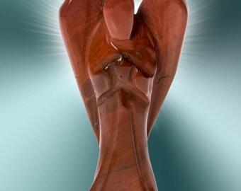 Red jasper Reiki healing crystal angel