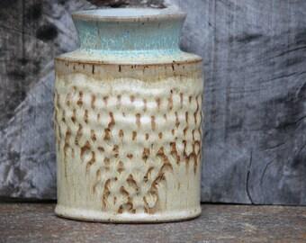 Flower Vase, Decorative Vase, Textured vase, Altered vase