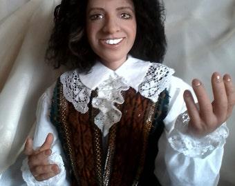 Caractéristique de la poupée art doll poupée autoriale intérieur Doll «Skapen»