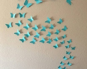 3D Butterfly Wall Art.  Wall decals. Wall stickers. 3d Butterflies. Choose From 48 Colors