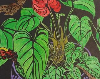 Hand Coloured Anthurium Lino Plant