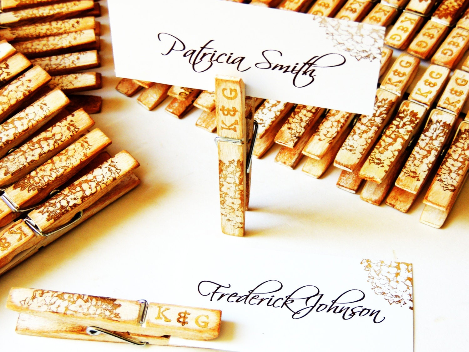 Wood wedding place card placecard holder personalized zoom solutioingenieria Gallery