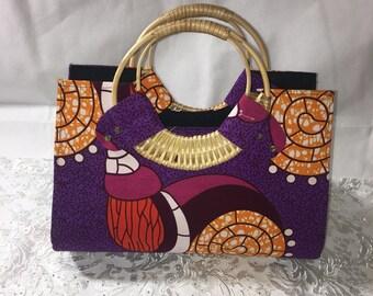 African print handbag