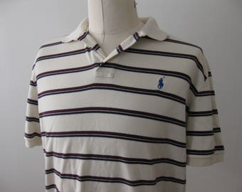 Ralph Lauren Polo Shirt Striped Adult Large Mens