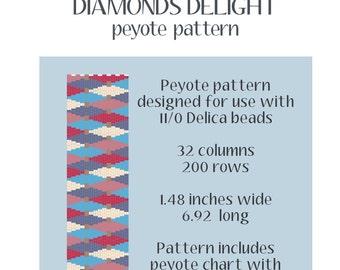 Diamond Delight Peyote Pattern