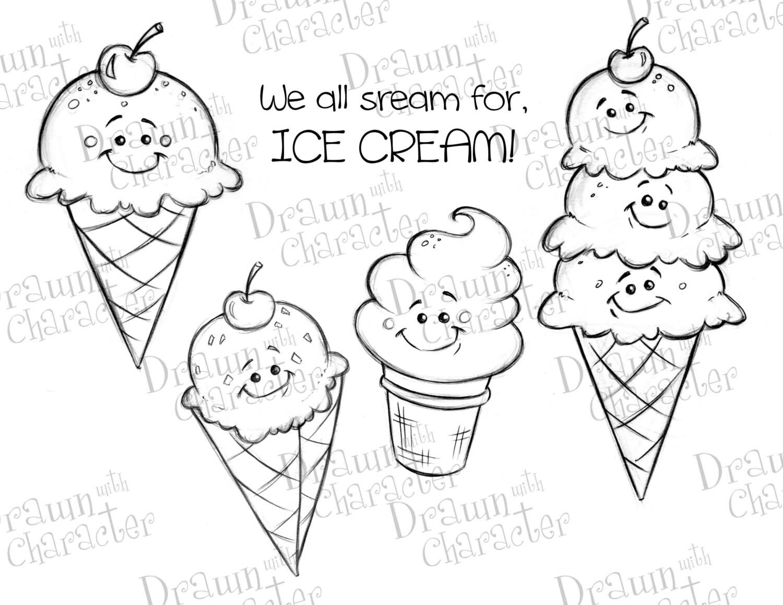 Sommer Spaß dreifach Kugel Eis Waffel Kegel Eis weichen