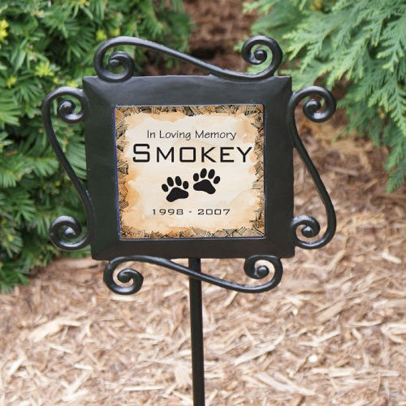 Personalized Pet Memorial Garden Stake Custom Outdoor Decor