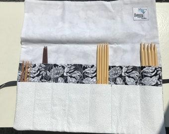 Black and White DPN or Crochet Hook Case