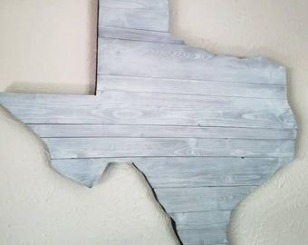 Large Reclaimed Wood Texas Wall Art - Large Rustic Texas - Whitewashed Texas Art-  Wedding Guest Book - Unique Gift
