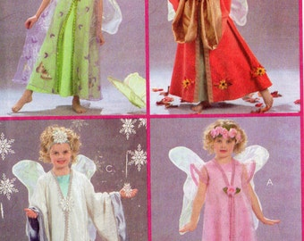 Easy McCall's  Costumes Pattern 5152 SNOW ANGEL FAIRIES Child Sizes 2 3 4 5