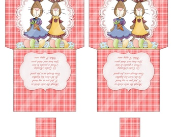 Printable Easter Tea Bag Wrapper For Friends Across The Miles