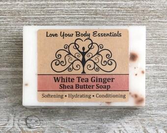 White Tea Ginger soap white tea ginger hand soap ginger soap natural soap handcrafted soap  women's soap floral scented soap fresh scent