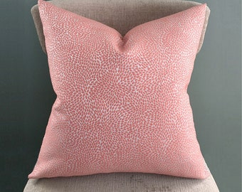 Coral Pillow Cover, Salmon Pillow Cover, Pink Throw pillow, Home Decor, Many sizes
