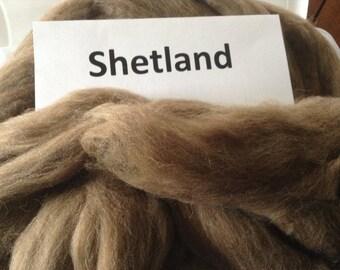 Moorit (brown) Shetland roving