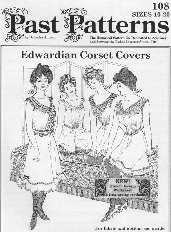 PP108 Vergangenheit Muster 108 deckt Edwardian Korsett