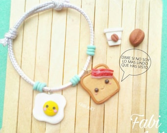 Cooking Kawai Bracelet and earrings