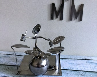 """Handcrafted """"Forked Up"""" Art - The Drummer"""