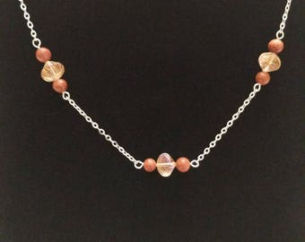 Floating beads necklace