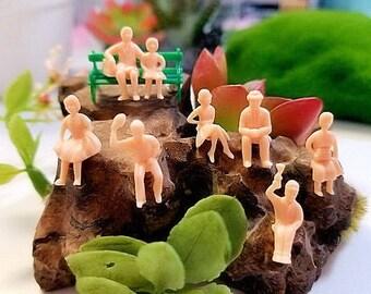 DESTASH SALE  diorama or terrarium jewelry resin little people miniature figure diy unpainted