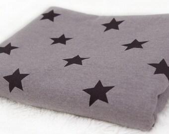 Geborsteld Franse Terry Knit stof ster grijs door de werf