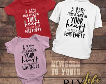 Kids | A Kids fills a place in your heart you never knew was empty Kids Bodysuit DTG Printing on Demand