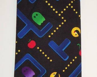 Pac-Man Retro Inspired Adult Necktie in Full Color, Adult ties, Gamer ties