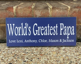 Father's Day Gift World's Greatest Grandpa ~ Gift For Grandfather ~ Papa Gifts ~ World's Greatest Papa ~ Personalized Grandfather Gift