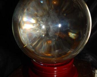Extra LARGE Genuine CLEAR QUARTZ Sphere - 10+ Pound Clear Quartz Orb - 150mm Gemstone Sphere - Metaphysical Crystals - Meditation - Scrying