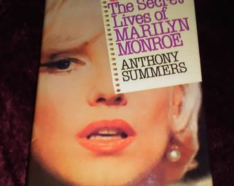 Marilyn Monroe Book Goddess The Secret Lives of Marilyn Monroe by Anthony Summers 1985 Hardback The Ultimate Biography of Marilyn Monroe