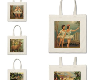 Paint by number market bags-free shipping.