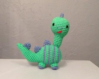 Crocheted dinosaur, stuffed animal, nursery decor, dinosaur amigurumi