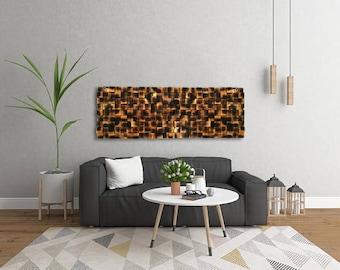 Rustic Wall Decor Pine Wood Art Living Room Cabin