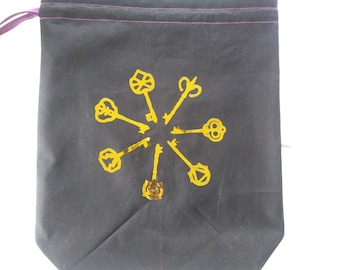 Knitting Project Bag - The Magicians - Fable of the Seven Golden Keys
