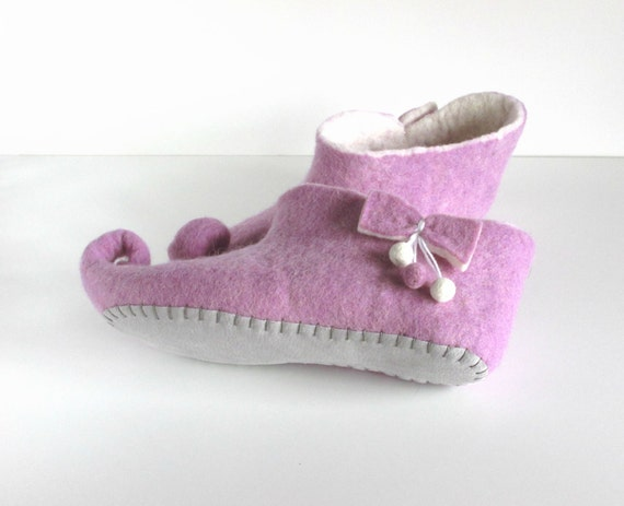 women white slippers shoes slippers felted Felted wool house purple slippers slippers slippers gnome slippers elf felt wool vU0T0wxq
