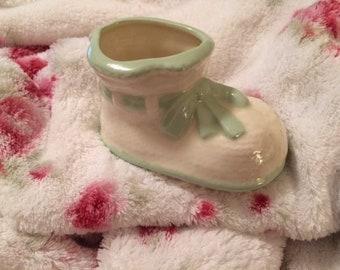 Vintage Baby Bootie Shoe Planter