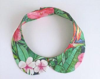 Exotic pink Peter Pan collar