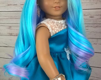 "Custom 10-11"" Doll Wig Fits Most 18"" Dolls ""Bahama""- Heat Safe"