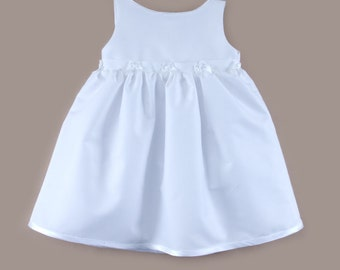 Baby cerimonial dress in white