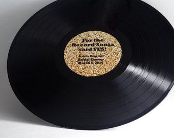 "Custom 12"" Vinyl Record Bridal Shower Guestbook - Including Shipping"