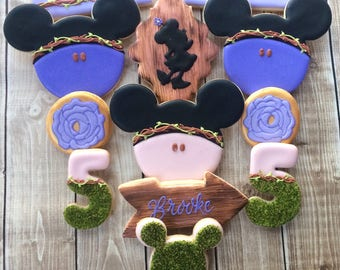 1 Dozen Decorated Cookies Boho Chic Minnie Mouse Cookies Woodland
