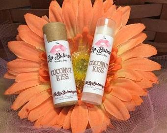 Coconut Kiss Natural Lip Balm - Eco-Friendly Push Up Tube or Regular Twist Up Tube