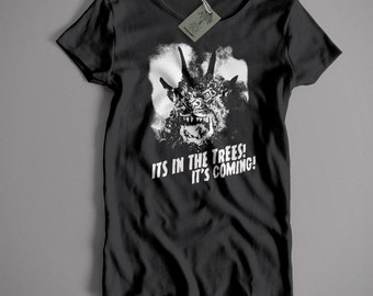"""Inspired by Kate Bush T Shirt - Night Of The Demon """"It's In The Trees"""" Classic Rock T shirt Old Skool Hooligans"""