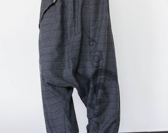 Drop Crotch Pants men women Aladdin Pants  Harem Pants  Hip Hop Pants, Boho Pants, Gypsy Pants, Baggy Pants