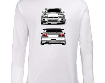 Nissan GTR R34 Longsleeve Shirt T-Shirt