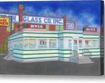 Jack's Diner - Fine Art Canvas Print
